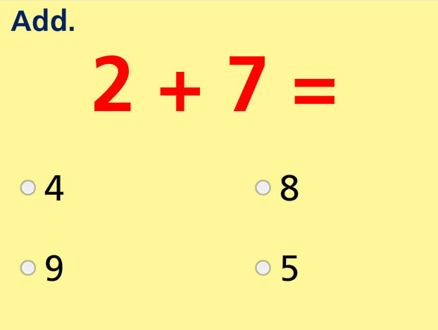 Add Two Numbers- Sums to 10 Test