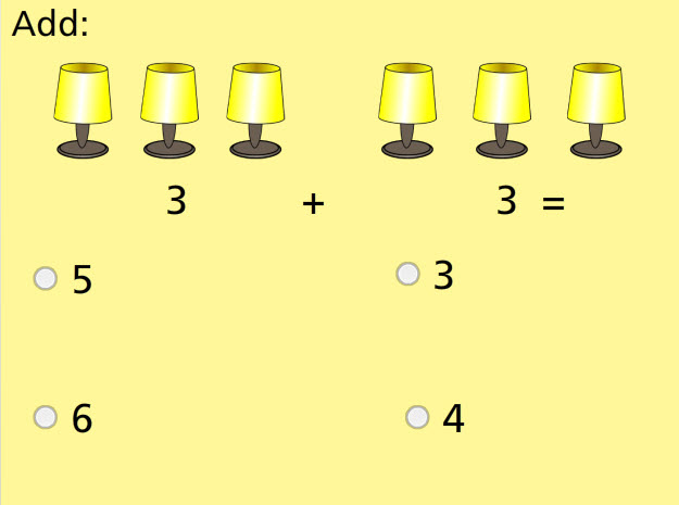 Add With Pictures Sums to 10 Math Test