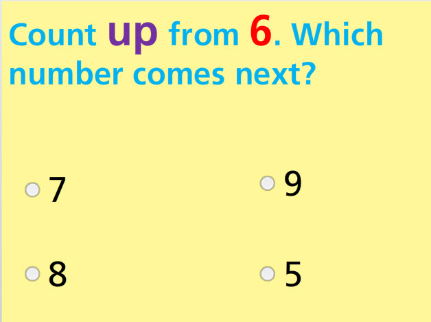 Count up- up to 20 Math Test