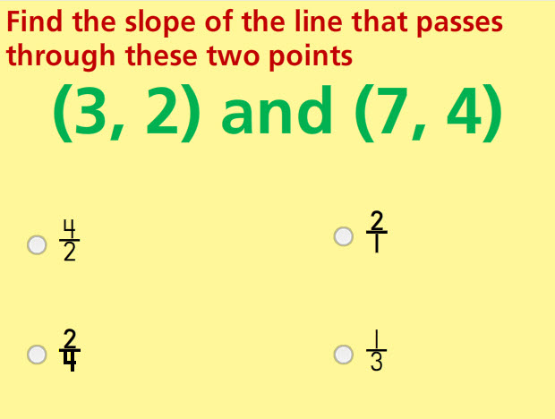 Slope Math Test